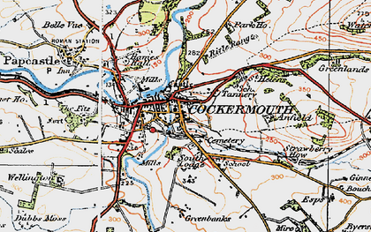 Old map of Wyndham Ho in 1925