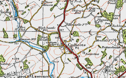 Old map of Codicote in 1920