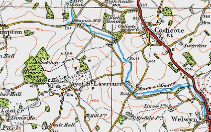 Old map of Codicote Bottom in 1920