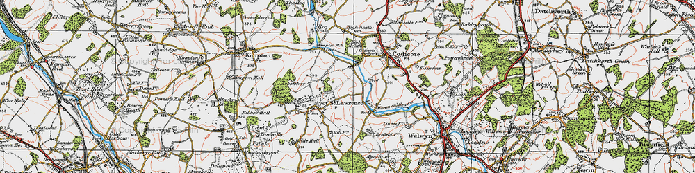 Old map of Abbotshay in 1920