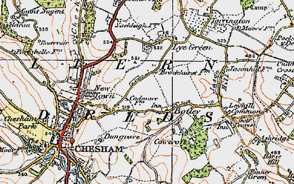 Old map of Codmore in 1920