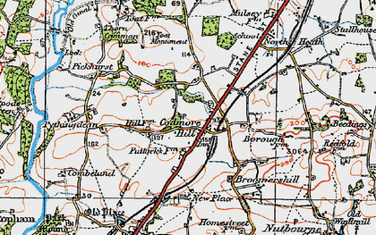 Old map of Toat Monument in 1920