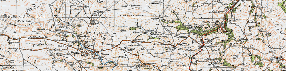 Old map of Lang Combe in 1919