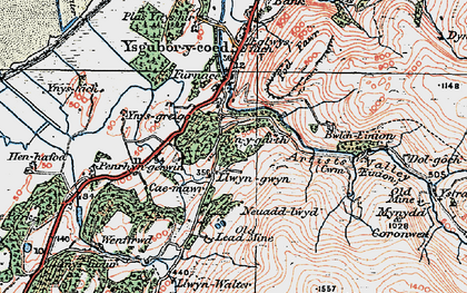 Old map of Ynys Greigiog in 1922