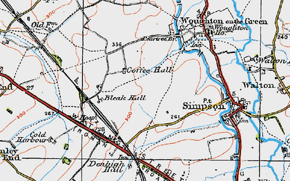 Old map of Coffee Hall in 1919