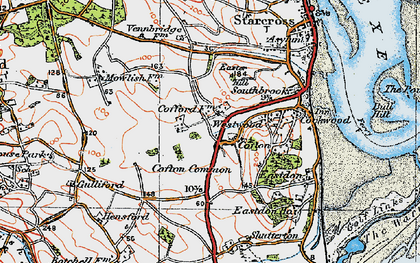 Old map of Cofton in 1919