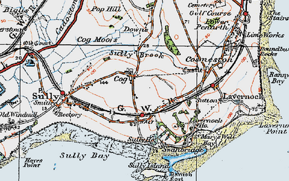 Old map of Cog in 1919