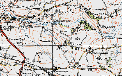 Old map of Colan in 1919