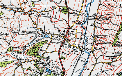 Old map of Colaton Raleigh in 1919