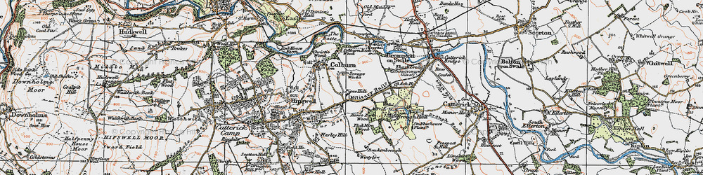Old map of Colburn in 1925