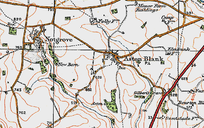 Old map of Aston Grove in 1919