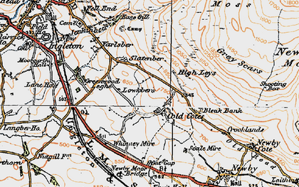 Old map of Whinney Mire in 1924