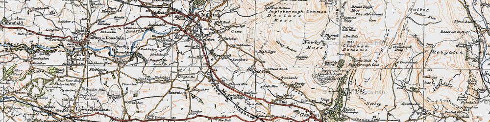 Old map of Yarlsber in 1924