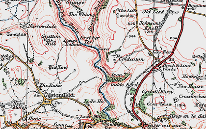 Old map of Liffs, The in 1923