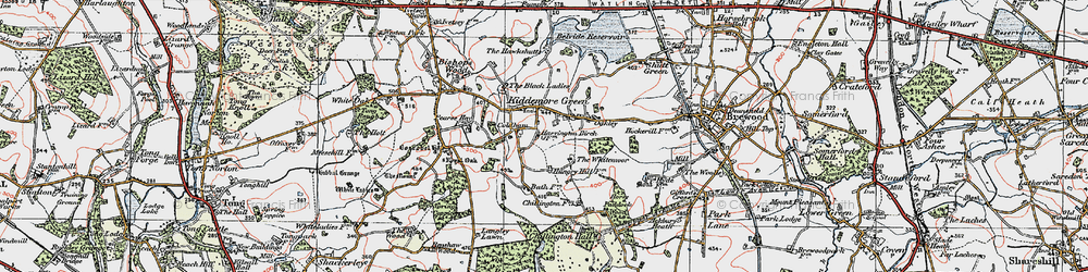 Old map of Whitemoor, The in 1921