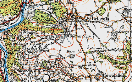 Old map of Coldharbour in 1919