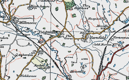 Old map of Baden Hall in 1921