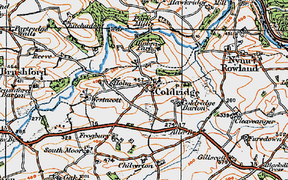Old map of Aller Br in 1919