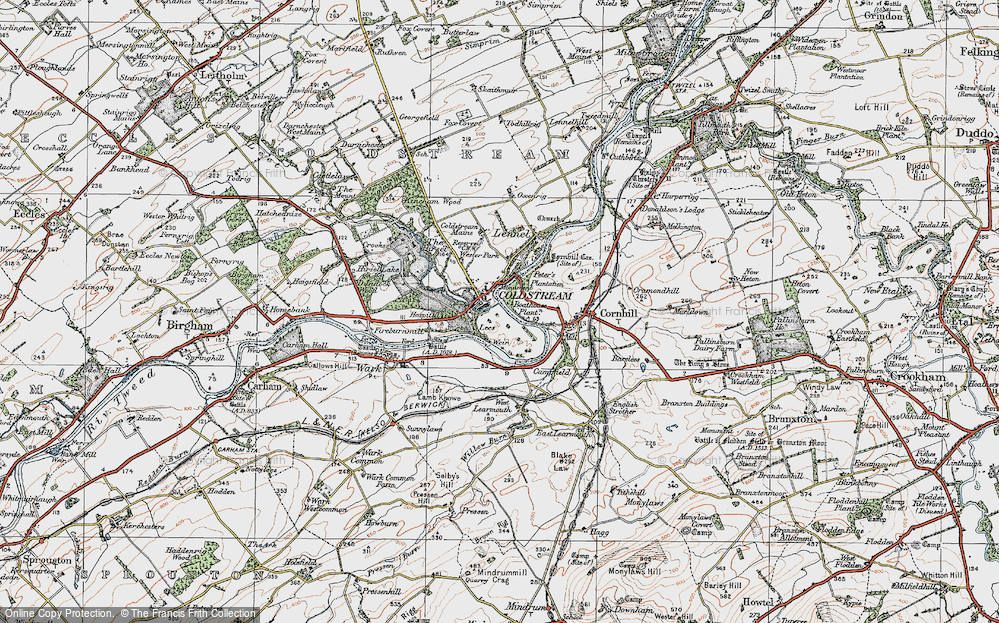 Old Map of Historic Map covering Lees in 1926