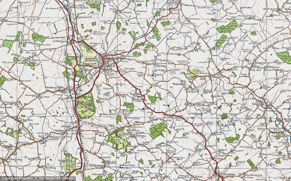 Old Map of Historic Map covering Abbots in 1920