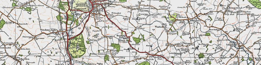 Old map of Abbots in 1920