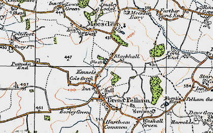 Old map of Cole Green in 1919