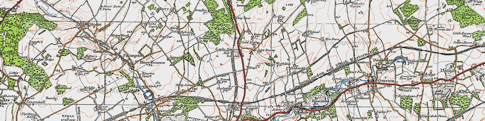 Old map of Whitnal in 1919