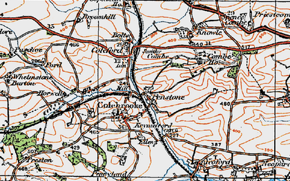 Old map of Whelmstone Barton in 1919