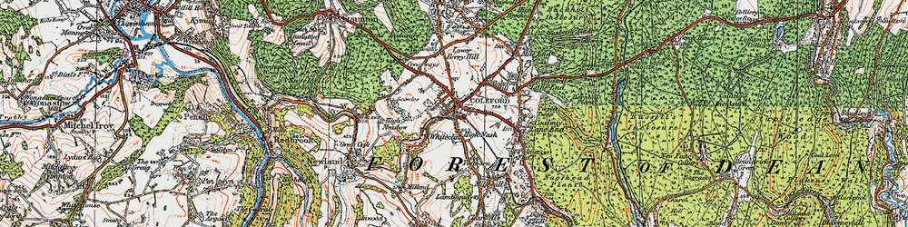 Old map of Coleford in 1919