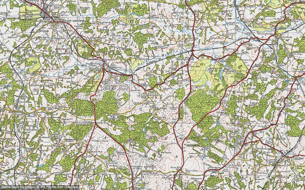 Old Map of Coleman's Hatch, 1920 in 1920