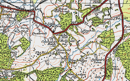 Old map of Coleman's Hatch in 1920