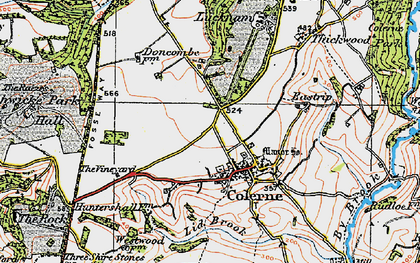 Old map of Ashwicke Hall (Sch) in 1919