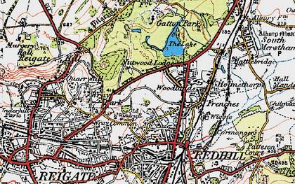 Old map of Coles Meads in 1920
