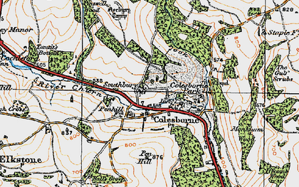 Old map of Colesbourne in 1919