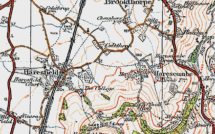 Old map of Colethrop in 1919