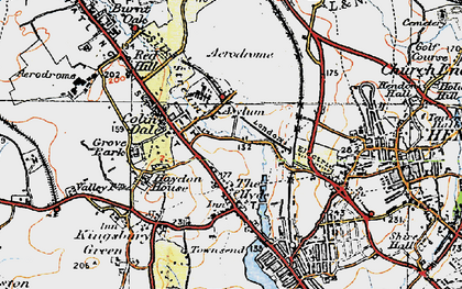 Old map of Colindale in 1920