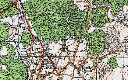 Old map of Collafield in 1919