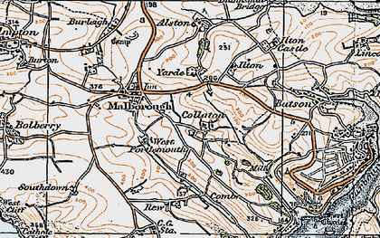Old map of Collaton in 1919