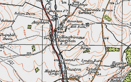 Old map of Collingbourne Kingston in 1919