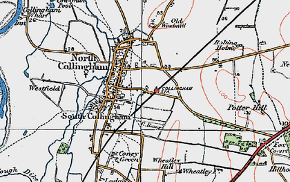 Old map of Wheatley Hill in 1923