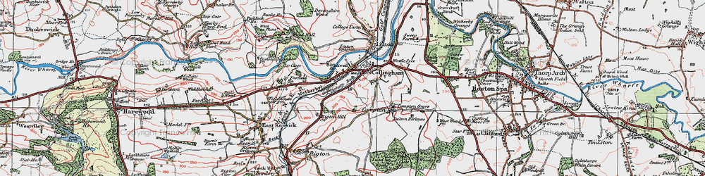 Old map of Collingham in 1925