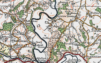 Old map of Whitbourne Ford in 1920