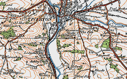 Old map of Backs Wood in 1919