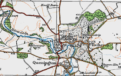 Old map of Coln St Aldwyns in 1919