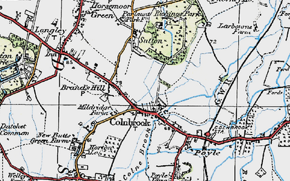 Old map of Colnbrook in 1920