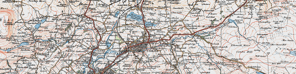 Old map of Law Hill in 1924