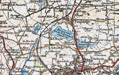 Old map of Alkincoats in 1924
