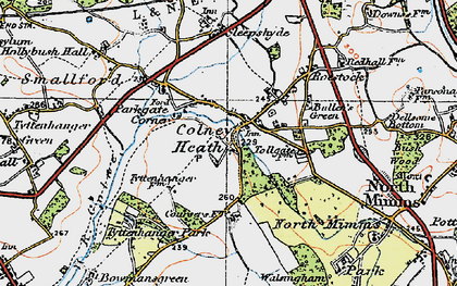 Old map of Colney Heath in 1920