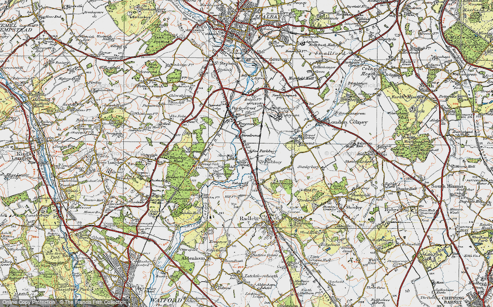Old Map of Colney Street, 1920 in 1920
