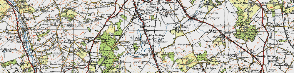 Old map of Colney Street in 1920